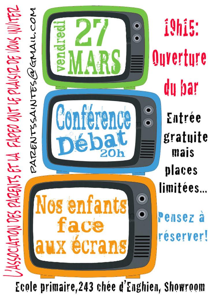 Affiche Conférence Nos enfants face aux écrans - 27032015