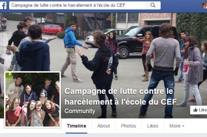 «Harcèlement à l'école, à toi la parole !» Une enquête du comité des élèves francophones (CEF)