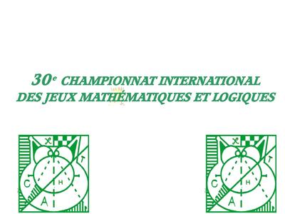 CHAMPIONNAT INTERNATIONAL DES JEUX MATHÉMATIQUES ET LOGIQUES
