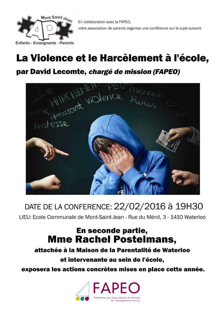 conf233renced233bat sur le th232me de la violence et le