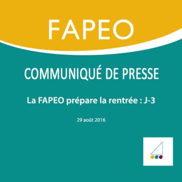 Communiqué de presse : La FAPEO prépare la rentrée : J-3