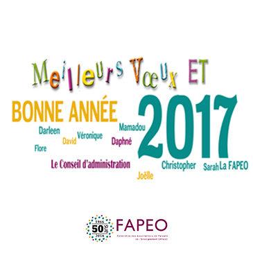 Meilleurs vœux de la FAPEO