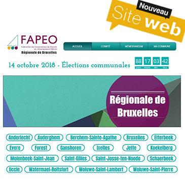 Spécial «élections communales 2018 » : site web de la Régionale de Bruxelles WWW.FAPEOBXL.BE