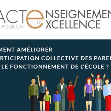 Pacte pour un Enseignement d'Excellence : La participation collective des parents dans le fonctionnement de l'école ?