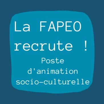La FAPEO engage pour un poste d'animation socio-culturelle