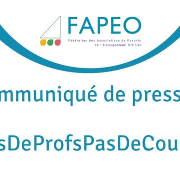 Communiqué de presse : PasDeProfsPasDeCours !