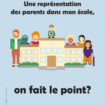 Livret – Une représentation des parents dans mon école, on fait le point ?