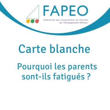 Carte blanche – Pourquoi les parents sont-ils fatigués ?