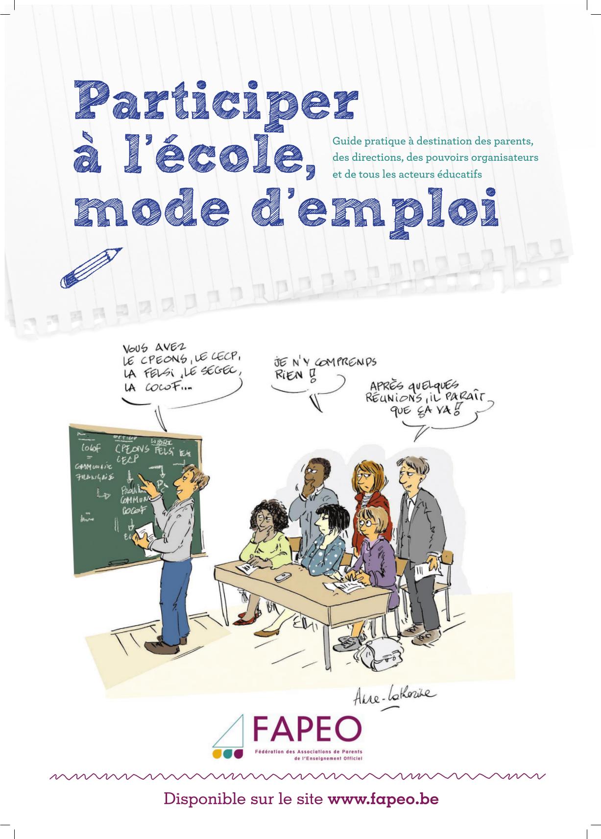 Affiche guide : Participer à l'école, mode d'emploi