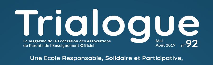 Trialogue n°92 / Une École Responsable, Solidaire et Participative. CAP OU PAS CAP ?