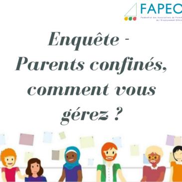 Enquête – Parents confinés, comment vous gérez ?