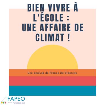 4.20 / Bien vivre l'école : une affaire de climat !