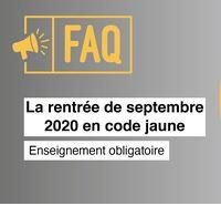 FAQ – Des questions sur la rentrée de septembre 2020 ?